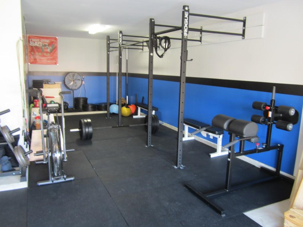 Garage gym set up munson mischief