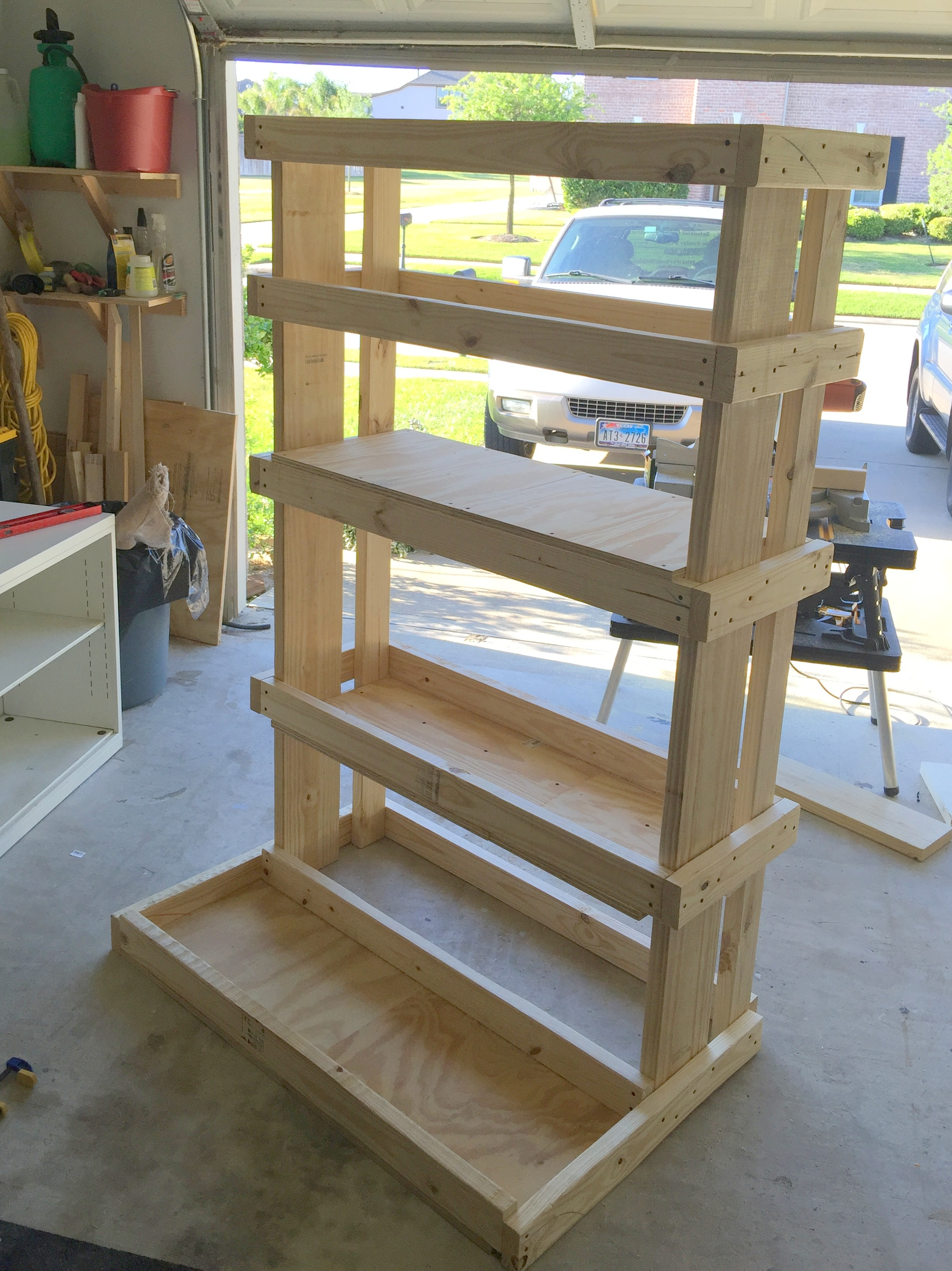 Homemade wooden dumbbell rack ftempo