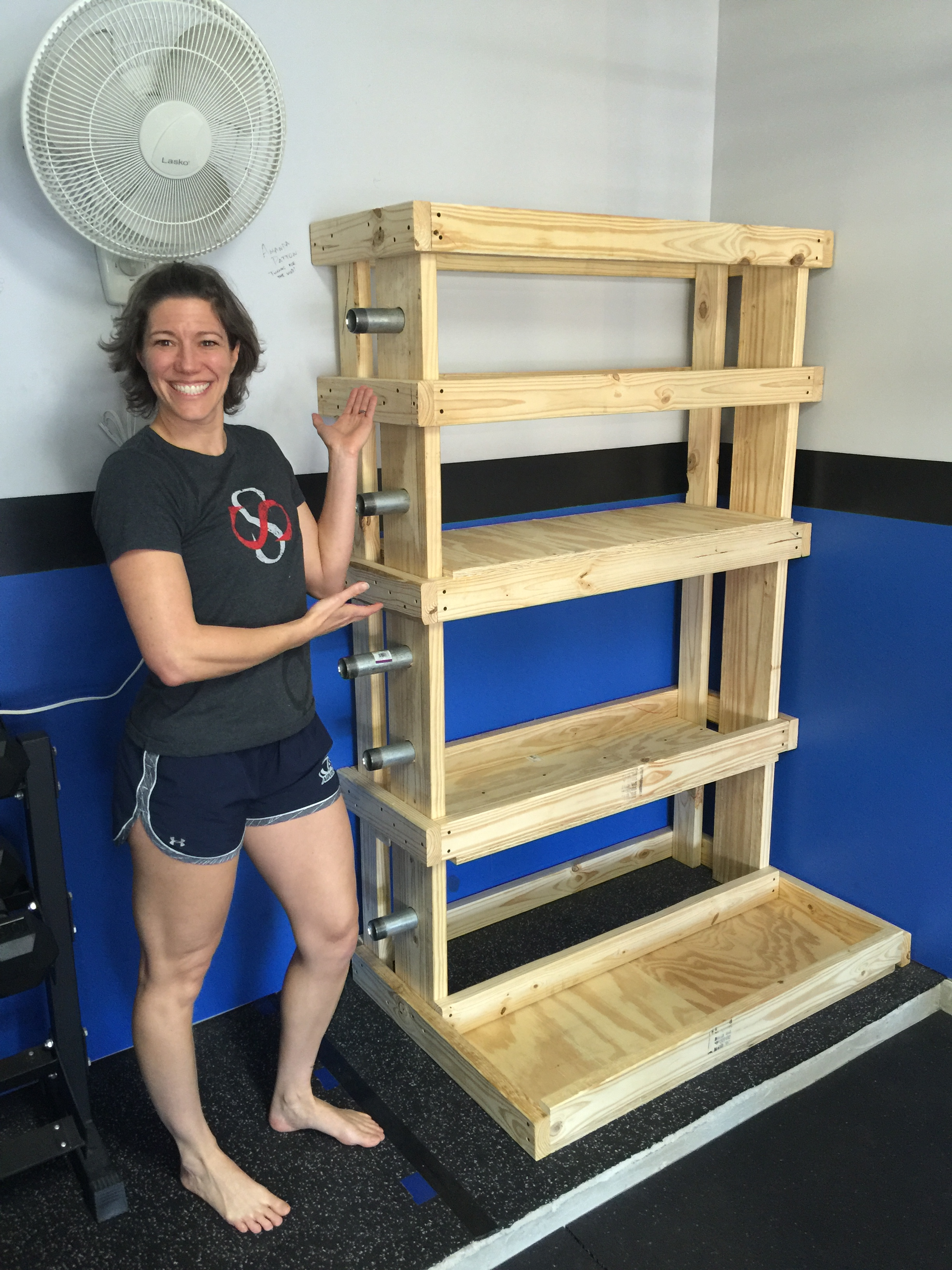 Diy garage gym storage projects
